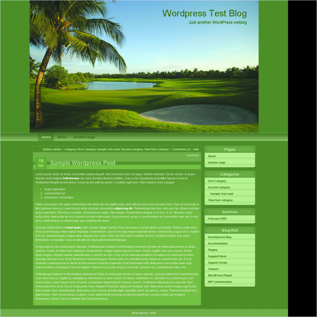 download Golf Course Theme theme