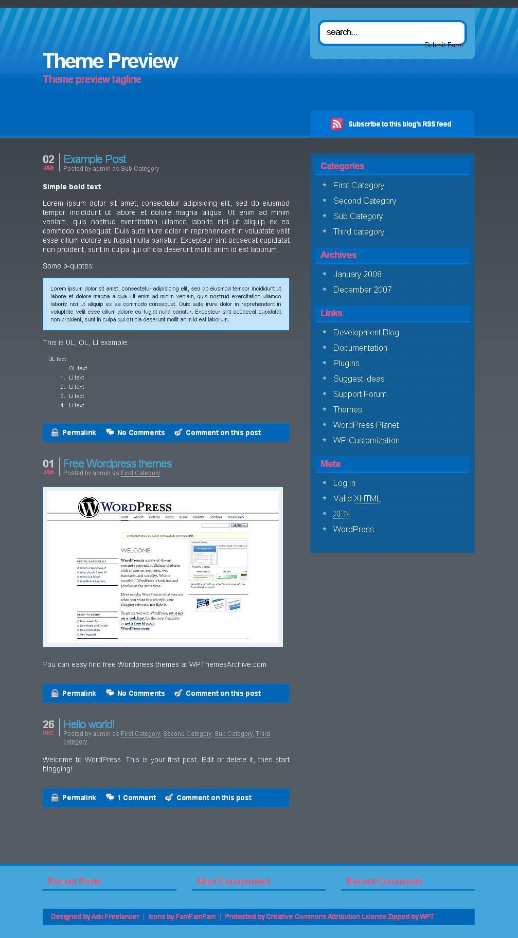 download Clean 2 Column Adii theme