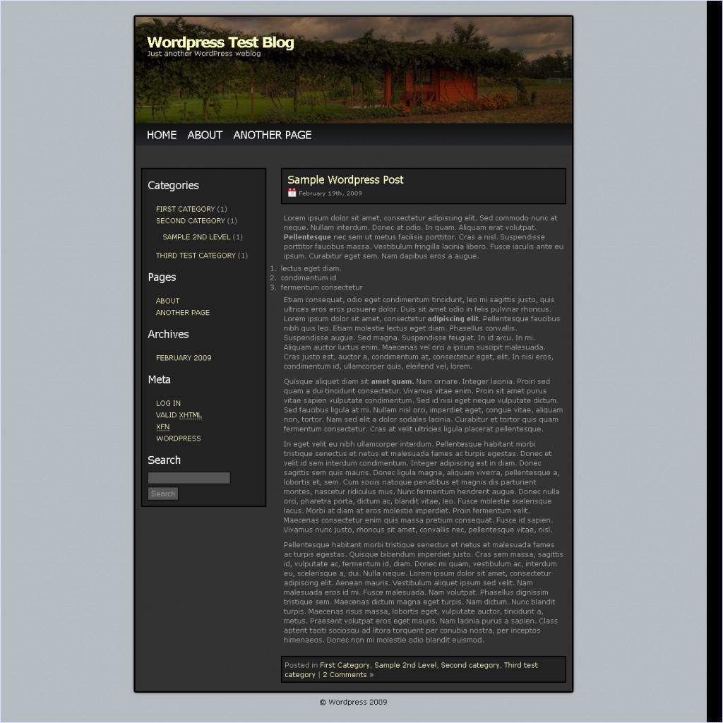 download WPblack theme
