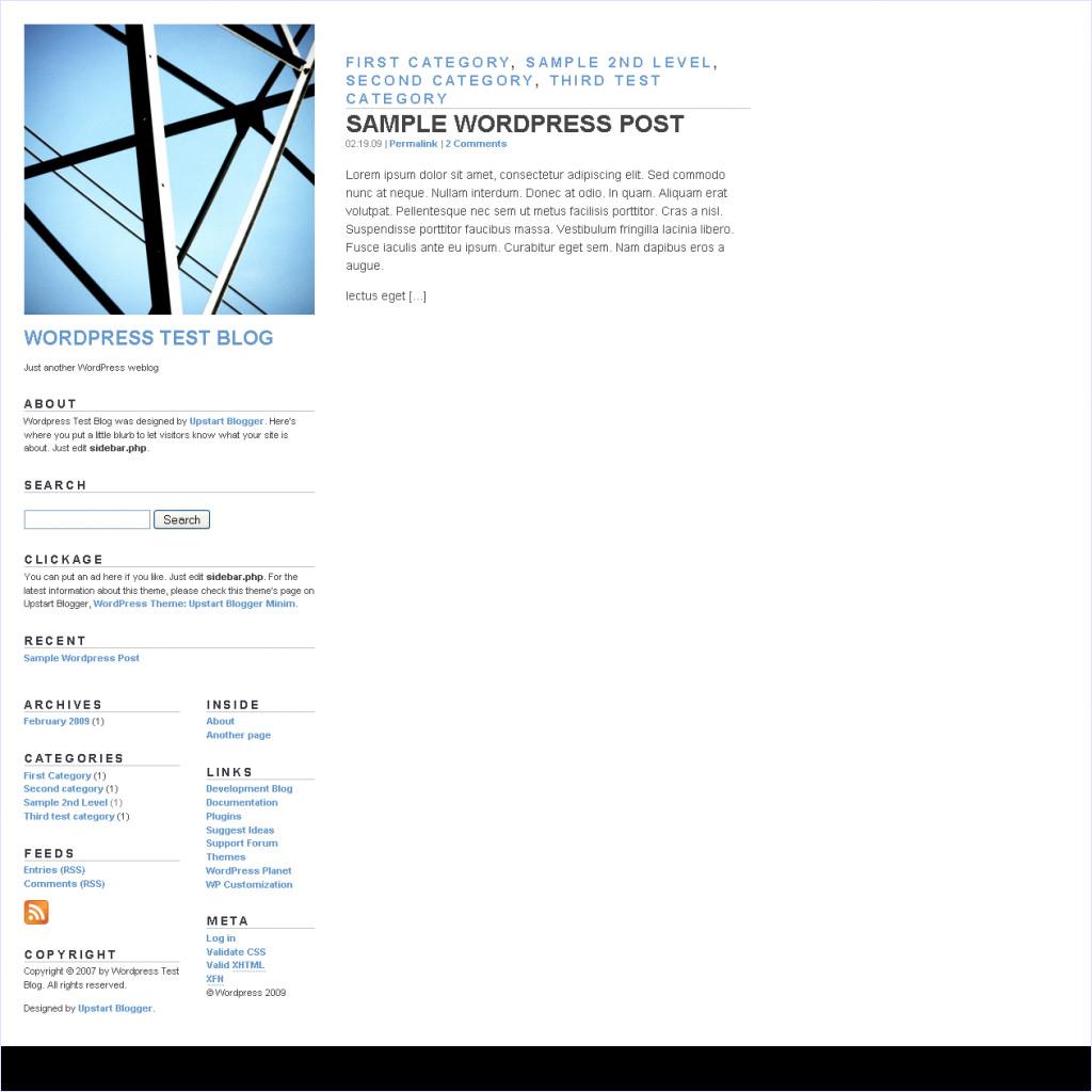 download Upstart Blogger Minim theme