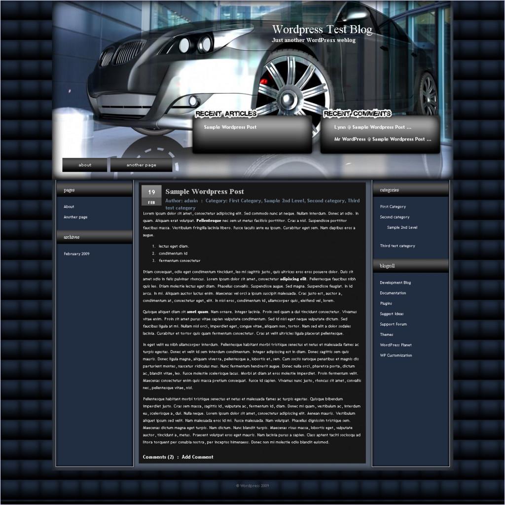 download 3D Car theme