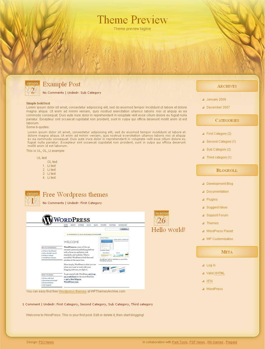 download Wheat Farm theme