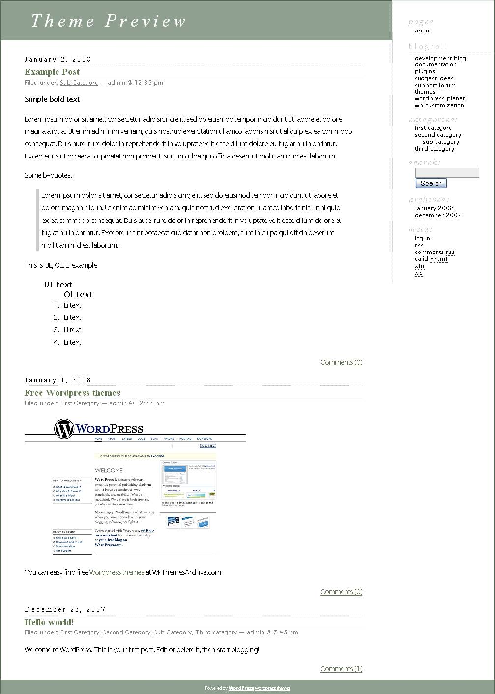 download WordPress Classic theme