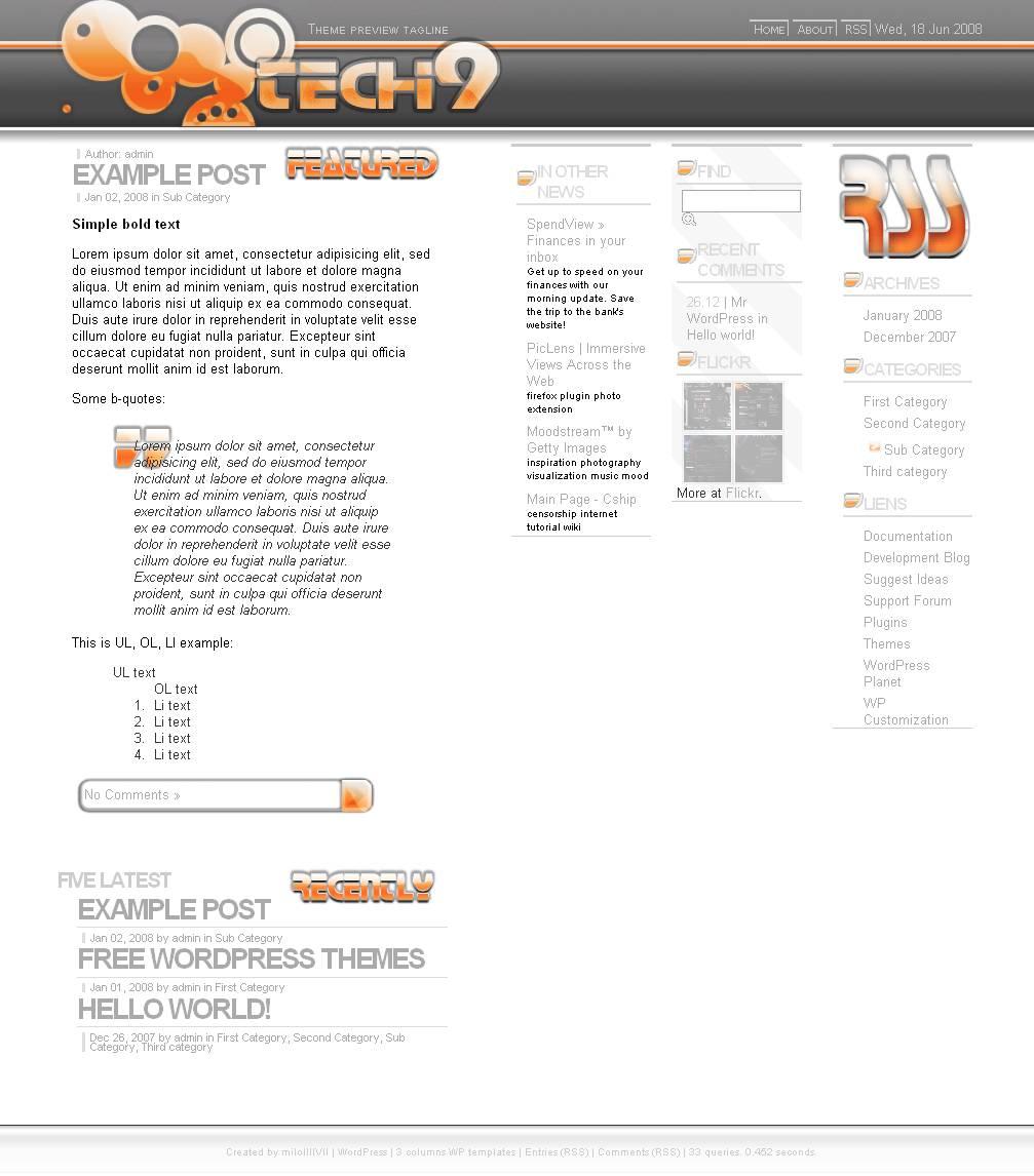 download Tech9 theme