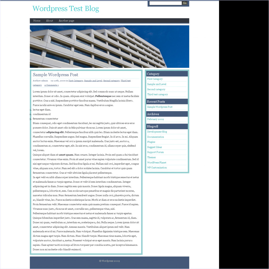 download Business Olivia Wordpress theme