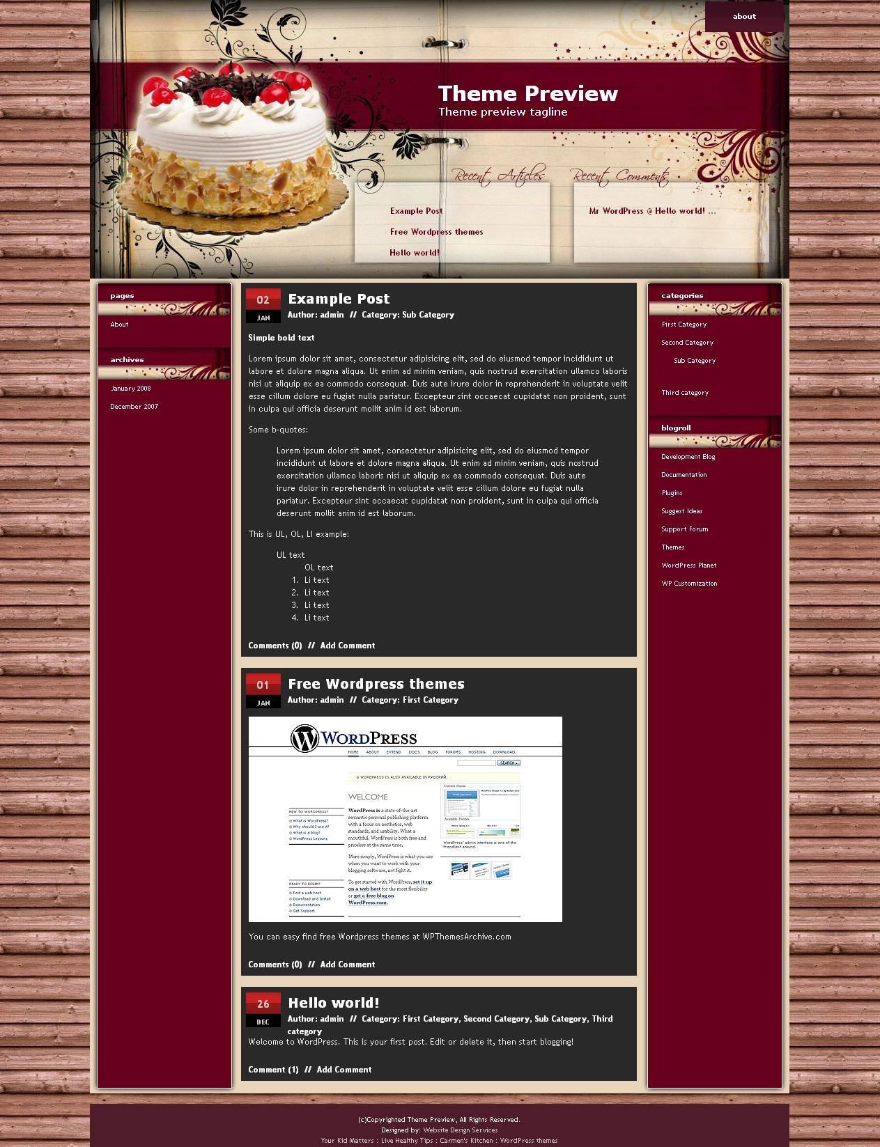download Cake Recipe theme
