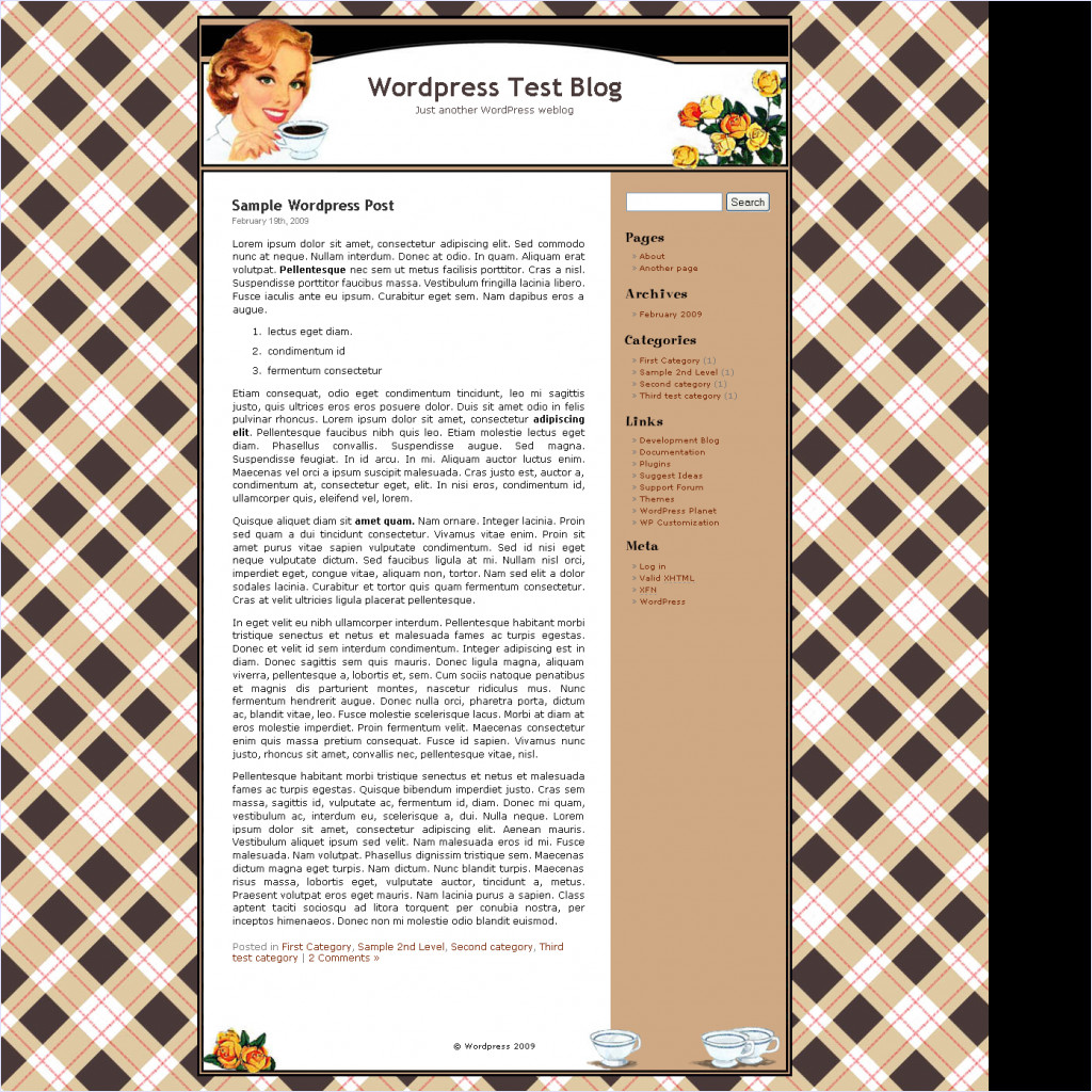 download Coffee Chick theme