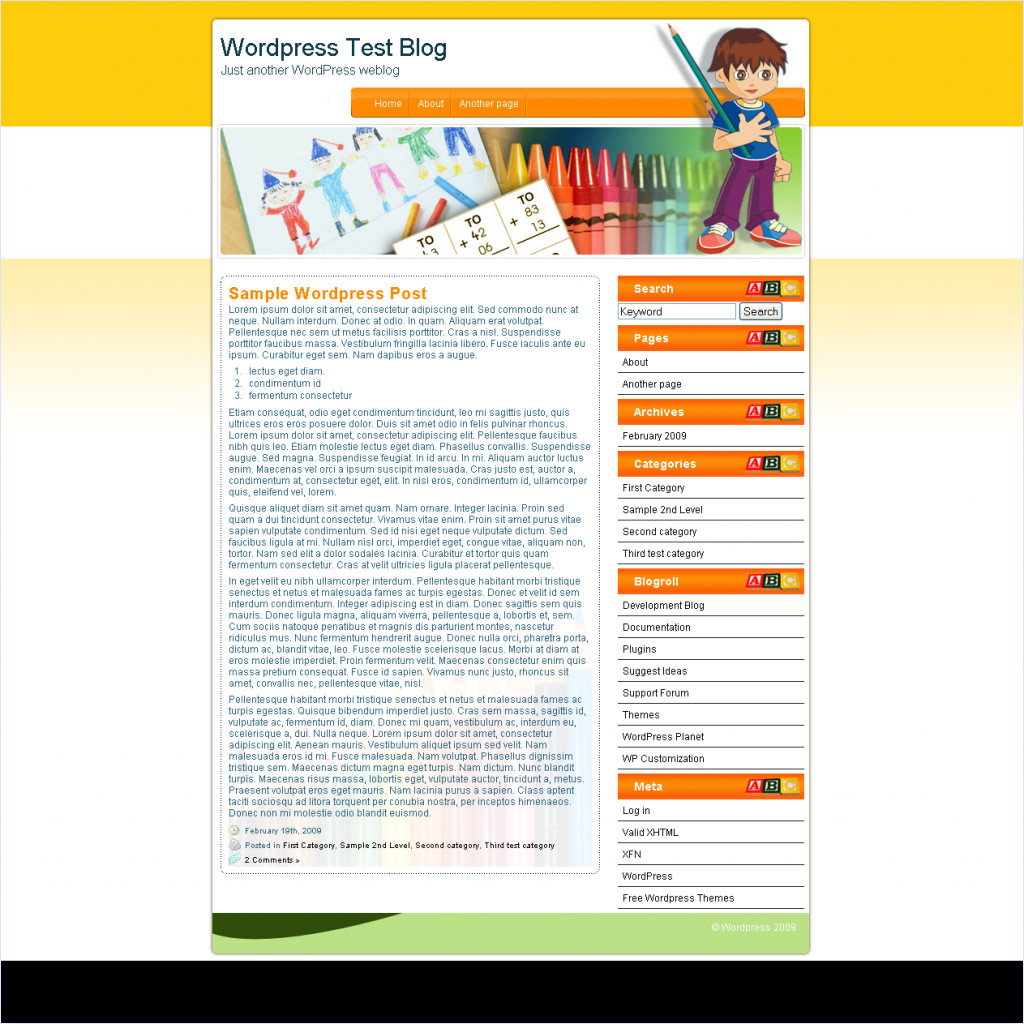 download Kindergarten theme