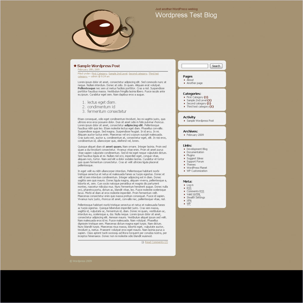 download Bloggers Cafe theme