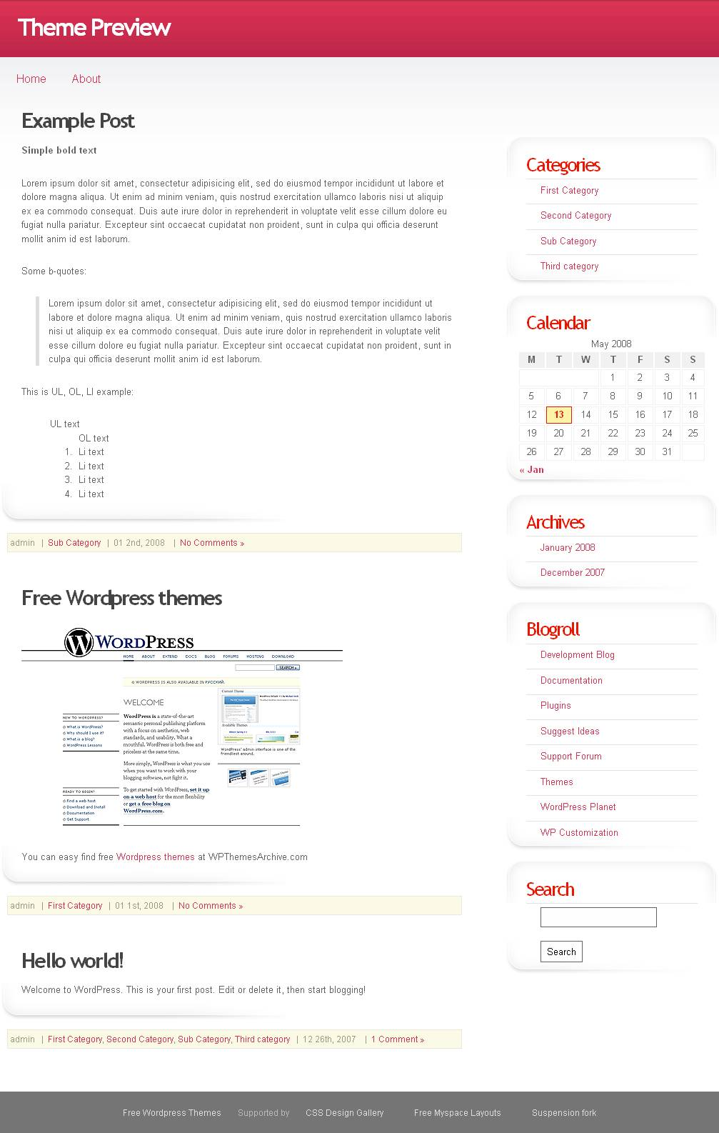download Pink Gredient theme