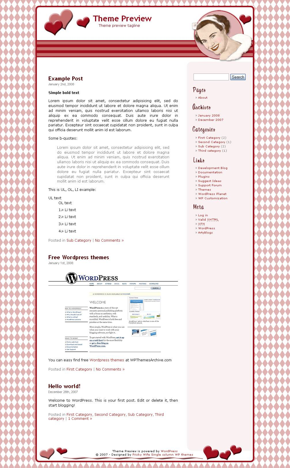 download Candy Girl theme