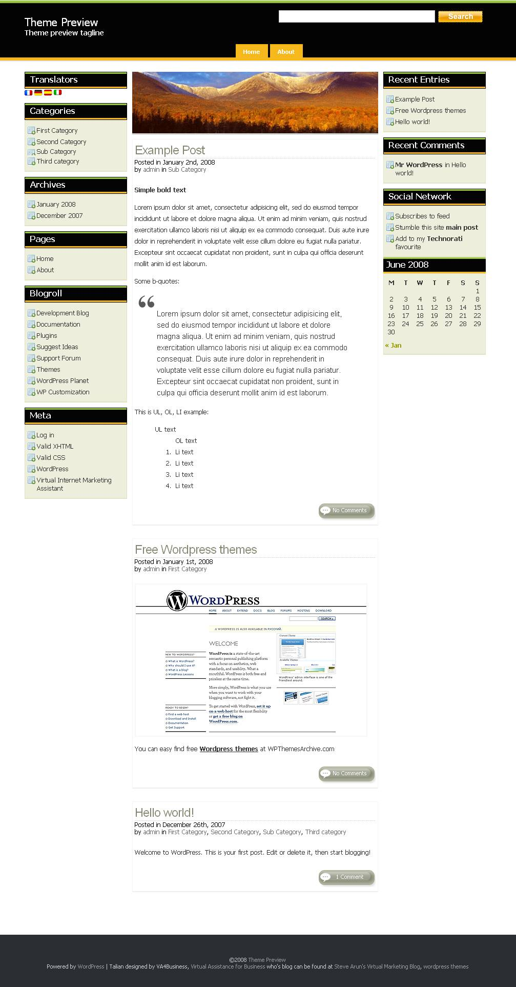 download Talian 1.0 theme