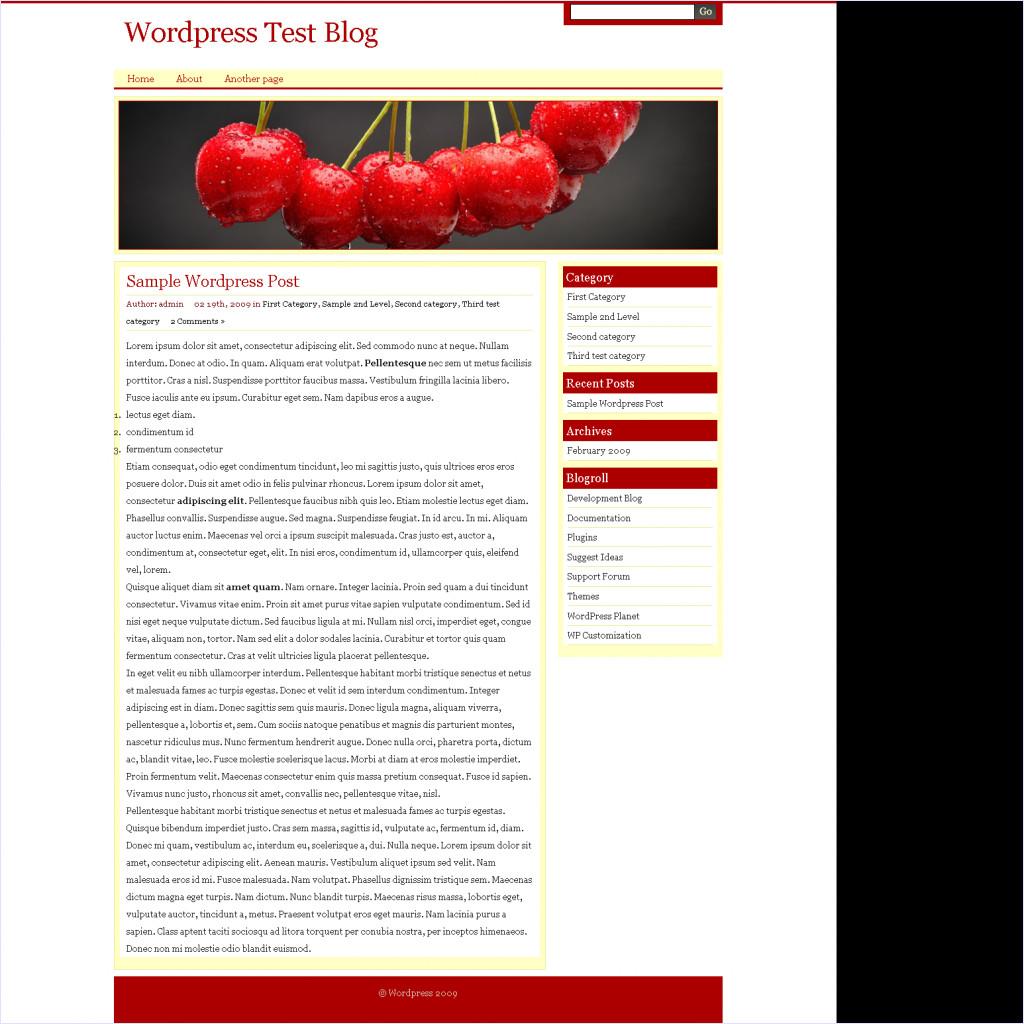 download Food Olivia Wordpress theme
