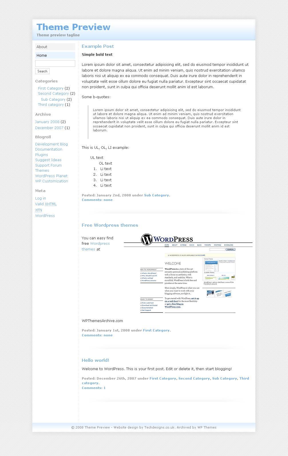 download Techdesigns.co.uk 001 theme
