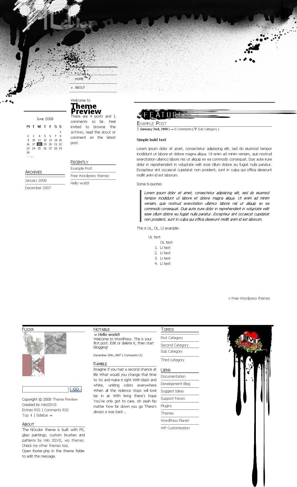 download NOcolor theme