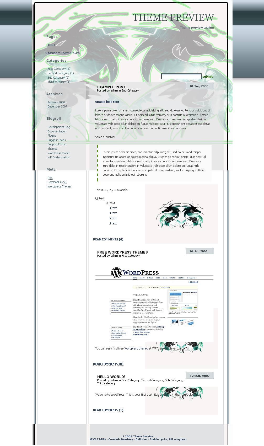 download Green Dragon theme