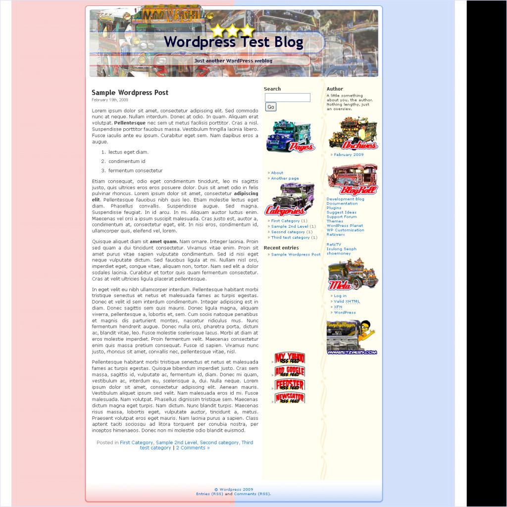 download WordPress Jeepney Template theme