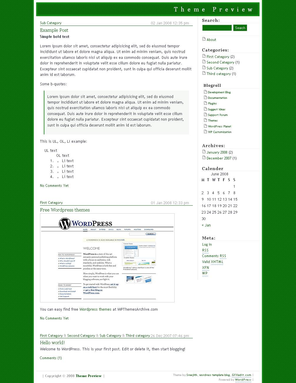 download mGreen theme