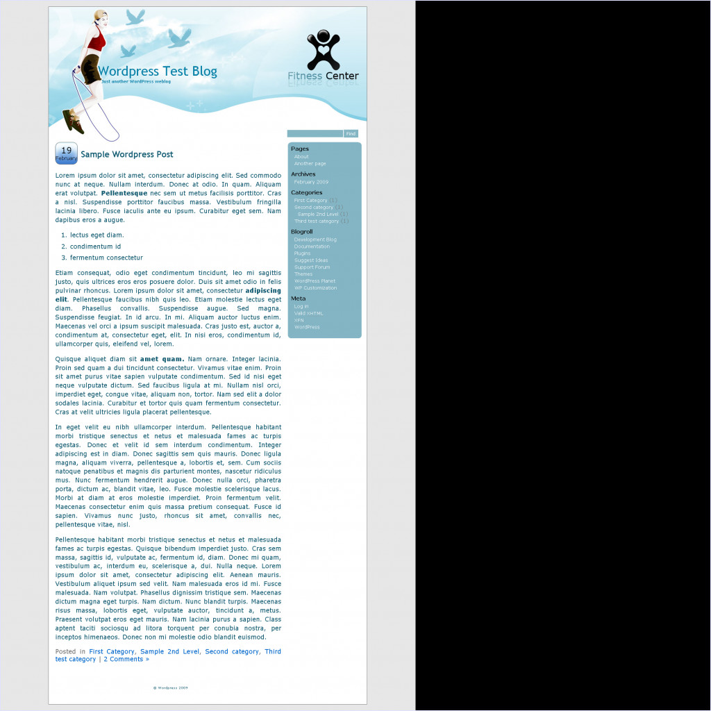 download Fitness Center theme
