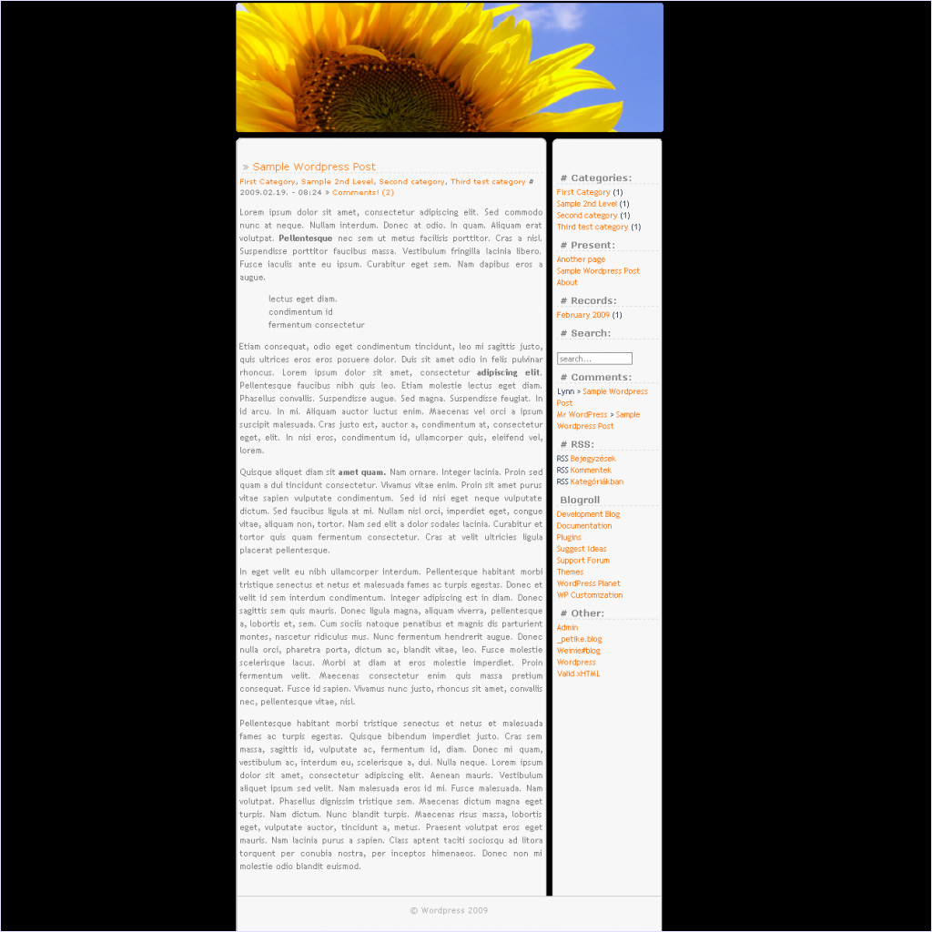 download Sunflower theme